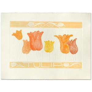 """Hari Hockey - """"Tulip"""" Limited Edition Embossed Lithograph, hand signed, numbered"""