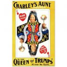"""""""Charley's Aunt"""" Hand Pulled Litho by RE Society, Image Org by Chadwick Rymer"""