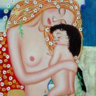 Le tre eta della donna (Mother and Child) reproduction Hand Painted Oil on Canva