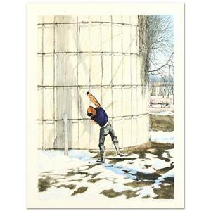 "William Nelson - ""The Snowball Thrower"" Limited Edition Lithograph hand signed"