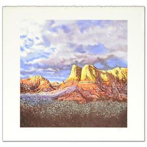 """Oak Creek Sunset"""" Limited Edition Lithograph by Jorge Braun Tarallo hand signed"""