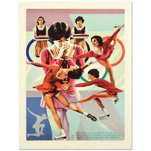 """William Nelson - """"Dorothy Hamill"""" Limited Edition Lithograph, Numbered, Signed"""