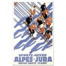"""Sports D'Hiver"" Hand Pulled Lithograph (24"" x 39"") by the RE Society"