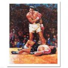"""Ali Over Liston"" FINE ART POSTER  Heavyweight Champ Muhammad Ali by Igor Semeko"
