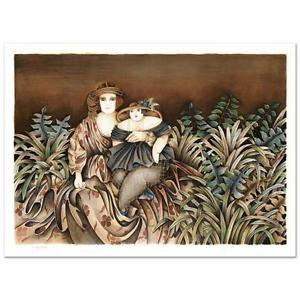 Haya Ran - Mother and Daughter - Ltd Ed Lithograph, Numbered and Hand Signed COA
