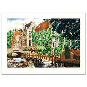 """Open Window in Belgium"" Limited Edition Serigraph by Juan Medina"