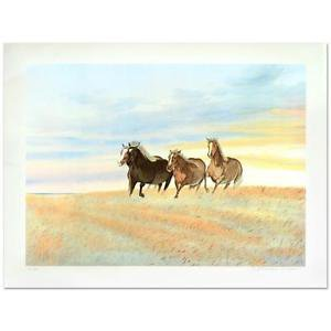 """William Nelson - """"Free"""" Limited Edition Serigraph hand signed by artist"""
