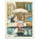 "William Nelson - ""New York Street Vendor"" Limited Edition Lithograph, Signed"