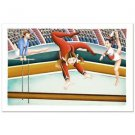 YUVAL MAHLER  GYMNAST Hand Signed Serigraph  NEW W/COA  3/200