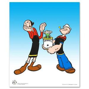 """Popeye Spinach"""" Limited Edition Popeye Sericel with Official King Features seal"""