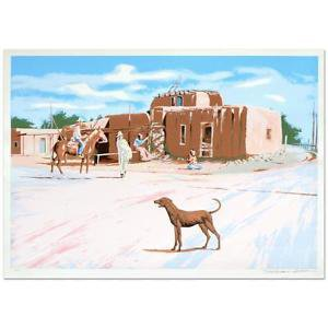 "William Nelson - ""Santa Clara Dog"" Limited Edition Serigraph, Hand Signed"
