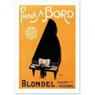 """Pianos A Bord"" Hand Pulled Lithograph by the RE Society"