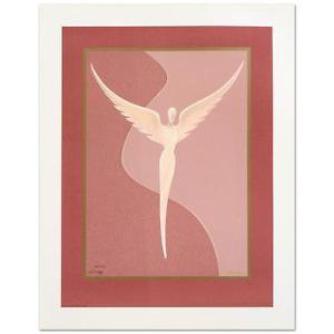 """Steven Lavaggi! """"Angel of Reconciliation (Pink)"""" Lt Ed Lithograph hand signed"""