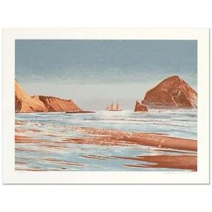 """William Nelson - """"Sailing The Coast"""" Limited Edition Serigraph, Numbered,Signed"""