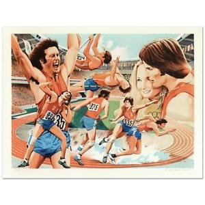 """William Nelson - """"Bruce Jenner"""" Limited Edition Serigraph, Numbered and Signed"""