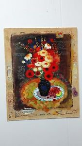 """ Colorful Bouquet "" Serigraph by Alexander Wissotzky'' Signed and numbered"
