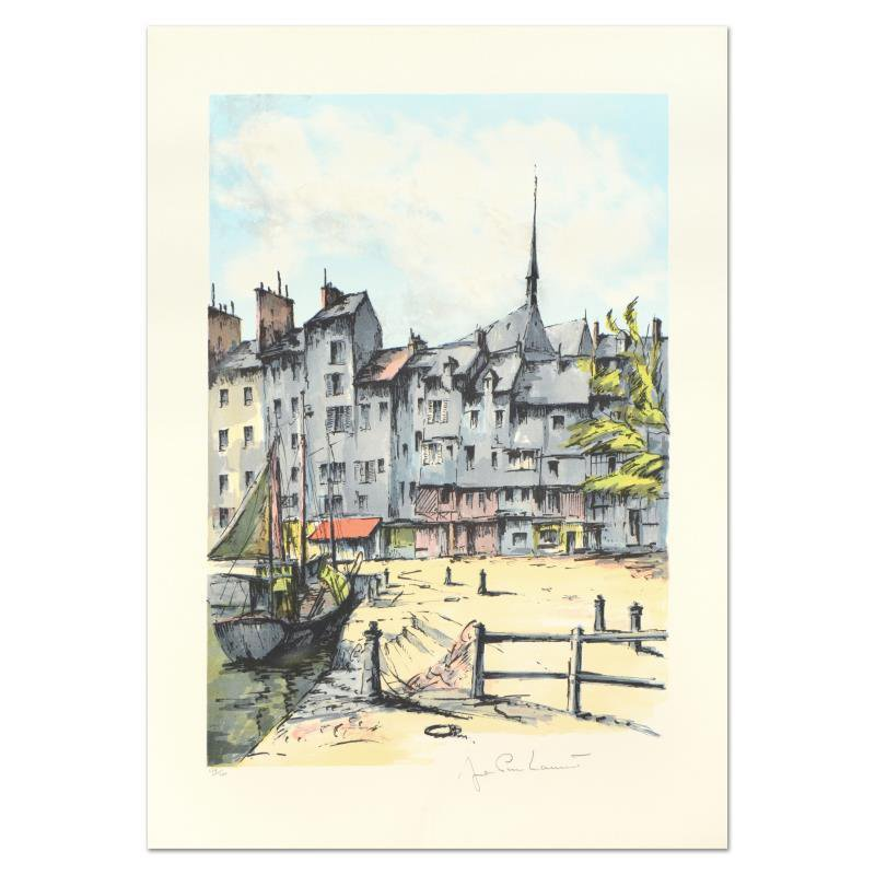"""Laurant - """"Honfleur"""" Limited Edition Lithograph hand signed"""