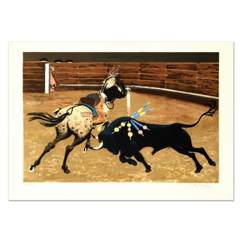 "Boyle - ""Bull Ring"" Limited Edition Lithograph, Numbered and Hand Signed"