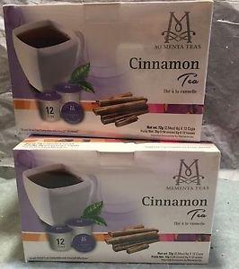 NEW Mementa Coffee and Tea  Cinnamon Tea Pods  12 Count