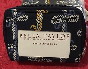 Bella Taylor Quilted Fabric Wallet AMERICAN CHARM Card Case NWT
