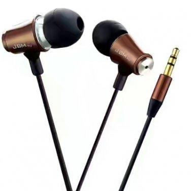 (2pcs)Metallic Heavy Bass Dynamic In-ear Earphone / Headphone 1.2M Tangle-free Cable China Warehouse