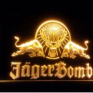 Jagermeister Jagerbomb red bull bar beer pub 3d signs LED Neon Light Sign b271
