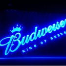 Budweiser logo KING OF Beer Bar Pub Club NEW LED Neon Light Sign b256