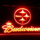 b-110 steelers Budweiser logo LED Sign Neon Light Sign Display