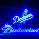 b-188 Los Angeles Dodgers Budweiser LED Neon Light Sign home decor crafts
