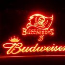 b-159 Tampa Bay Buccaneers Budweiser LED Neon Light Sign