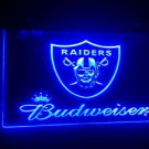 b-77 Budweiser raiders Beer Bar Pub Club NEW LED Neon Light Sign