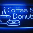 Coffee & Donuts Logo Beer Bar Pub Light Sign Neon