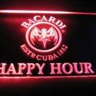Bacardi Happy Hour Logo Beer Bar Light Sign Neon