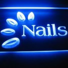 Nails Logo Beer Bar Pub Store Light Sign Neon
