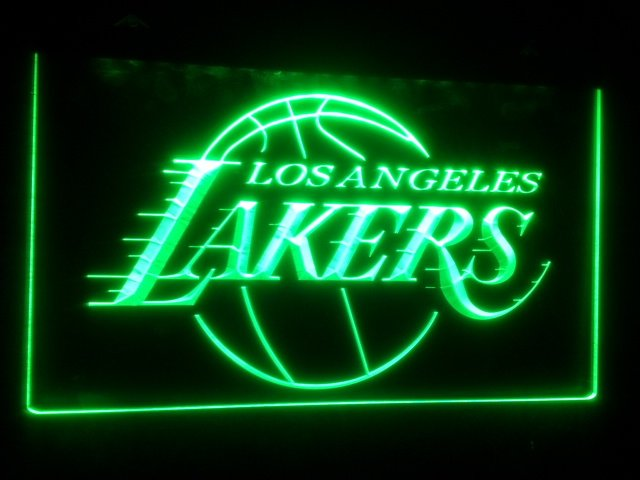 b-124 los angeles lakers beer bar pub club 3d signs LED Neon Light Sign man cave