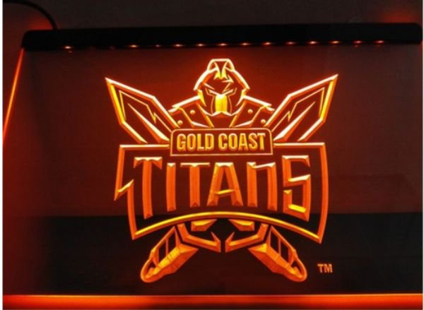 Gold Coast Titans bar Beer pub club 3d signs LED Neon Sign man cave