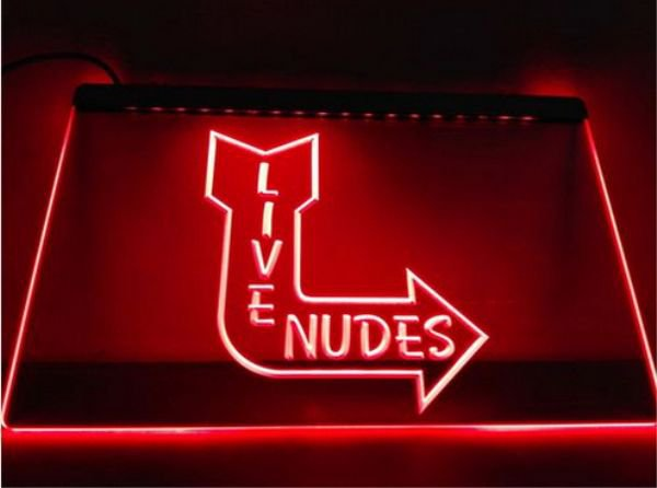 Live Nudes Sexy Lady Night bar Beer pub club 3d signs LED Neon Sign man cave