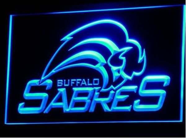 Sabres buffalo bar Beer pub club 3d signs LED Neon Sign man cave
