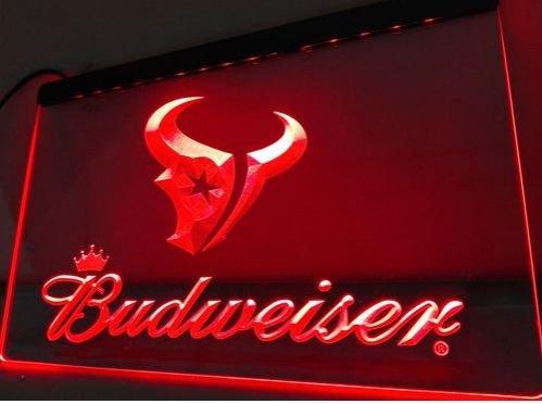 houston Texans Budweiser Logo bar Beer pub club 3d signs LED Neon Sign man cave