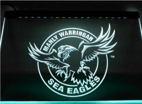 Manly Warringah Sea Eagles bar Beer pub club 3d signs LED Neon Sign man cave