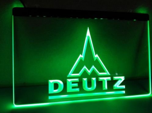 Deutz bar Beer pub club 3d signs LED Neon Sign man cave