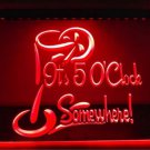 It's 5 O'Clock Somewhere bar Beer pub club 3d signs LED Neon Sign man cave