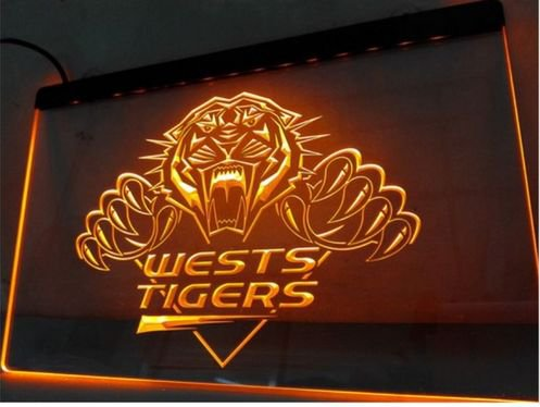 Wests Tigers bar Beer pub club 3d signs LED Neon Sign man cave