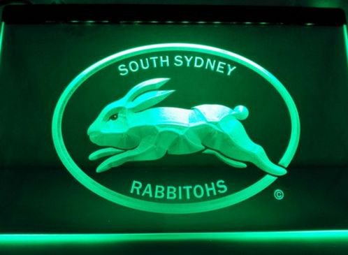 South Sydney Rabbitohs bar Beer pub club 3d signs LED Neon Sign man cave