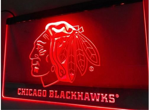 Chicago Blackhawks Hockey  bar Beer pub club 3d signs LED Neon Sign man cave
