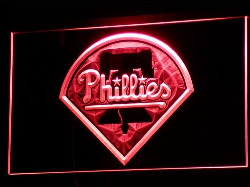 Philadelphia Phillies bar beer pub club 3d signs LED Neon Sign man cave