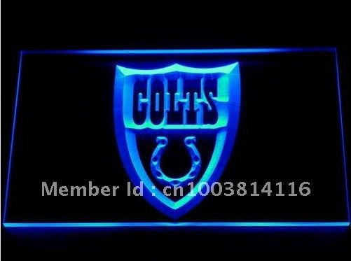 Indianapolis Colts bar beer pub club 3d signs LED Neon Sign man cave