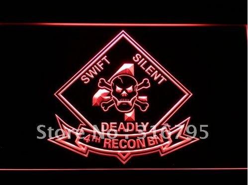 4th Recon Battalion Marine USMC bar beer pub club 3d signs LED Neon Sign man cave