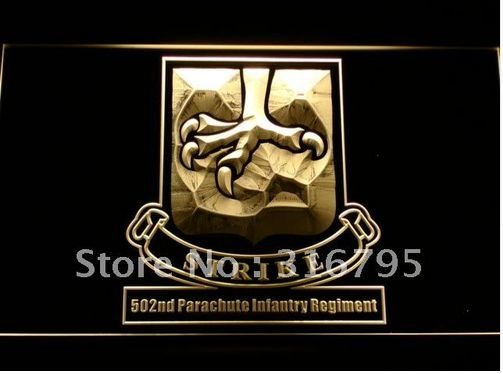 502nd Parachute Infantry Army bar beer pub club 3d signs LED Neon Sign man cave