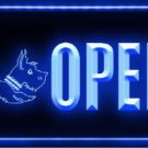 OPEN Scottie Dog Shop Pet LED Light Sign Bar Beer Pub Store